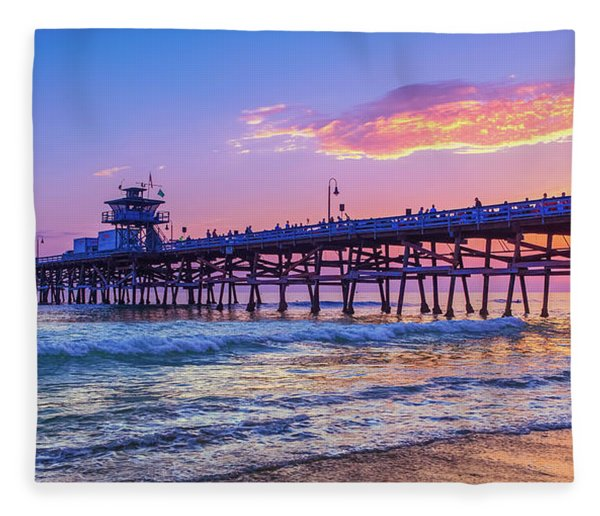 There Will Be Another One - San Clemente Pier Sunset Fleece Blanket