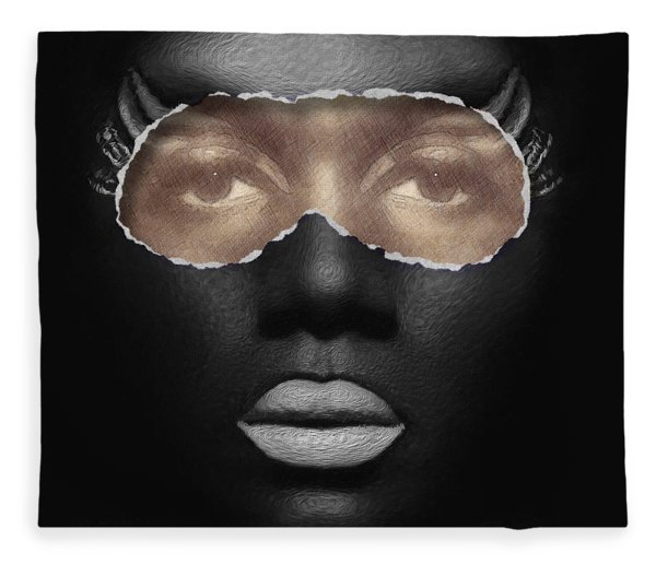 Fleece Blanket featuring the digital art Thin Skinned by ISAW Company