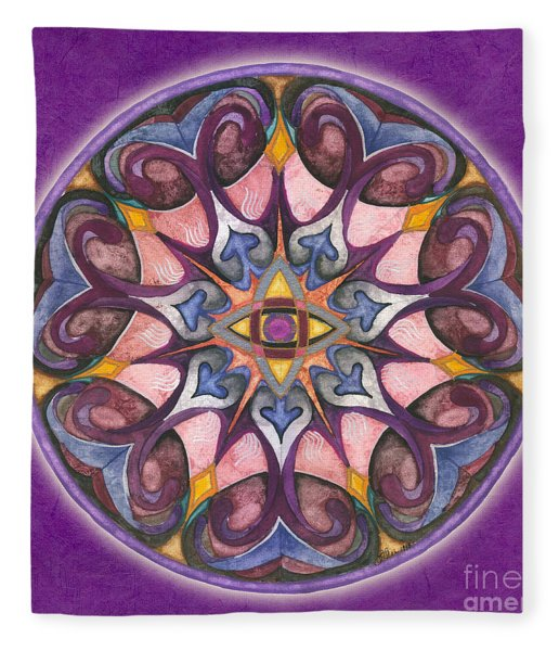 Third Eye Mandala Fleece Blanket