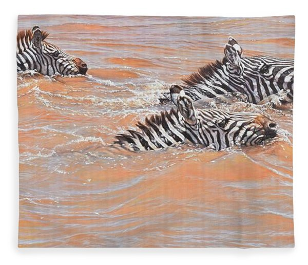 Fleece Blanket featuring the painting This Way Son by Alan M Hunt