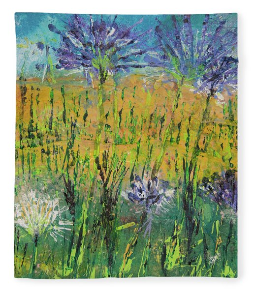 Thistles Too Fleece Blanket