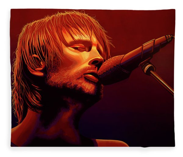 Thom Yorke Of Radiohead Fleece Blanket