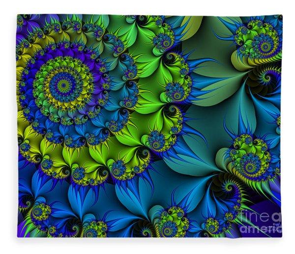 Thorn Flower Fleece Blanket
