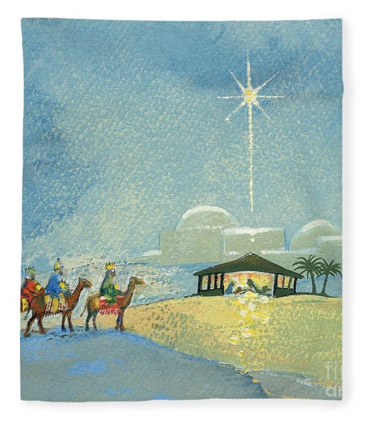 Three Wise Men Fleece Blanket
