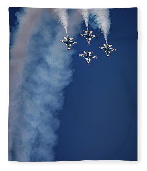 Thunderbirds Diamond Formation Fleece Blanket