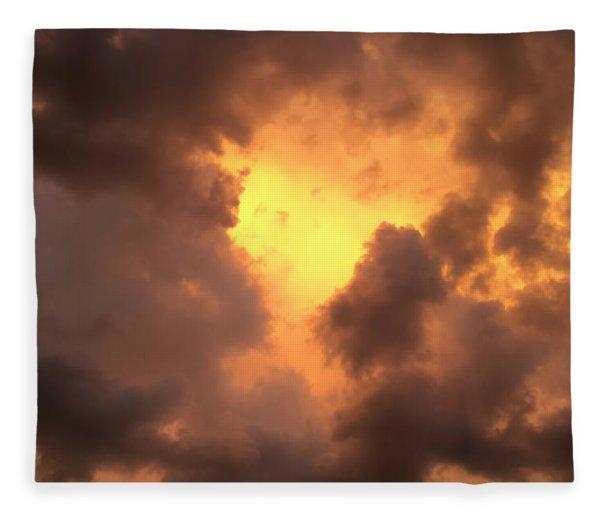 Thunderous Sunset Fleece Blanket