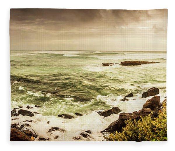 Tidal Vastness Fleece Blanket