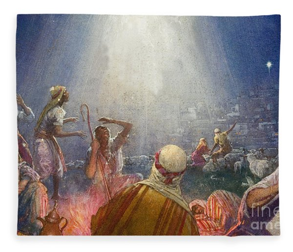 Tidings Of Great Joy Fleece Blanket