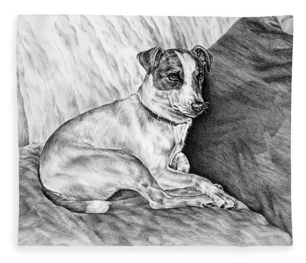Time Out - Jack Russell Dog Print Fleece Blanket