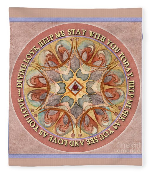 To See As Love Sees Mandala Prayer Fleece Blanket