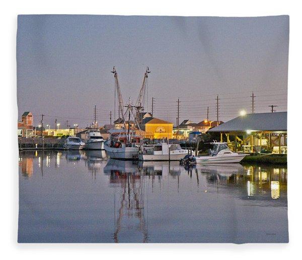 Topsail Island Nc Sound Fleece Blanket