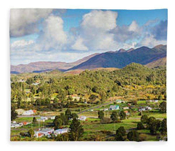 Town Of Zeehan Australia Fleece Blanket