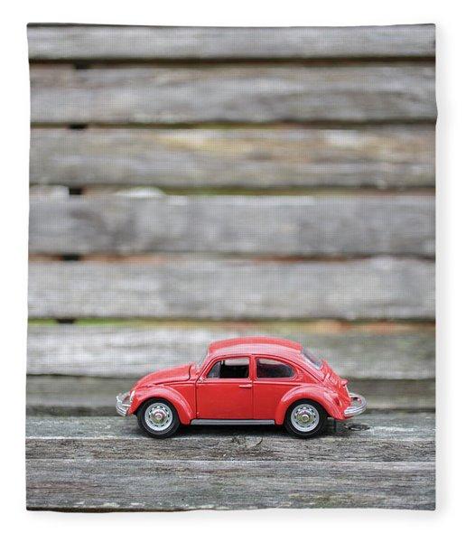 Toy Car On A Bench Fleece Blanket