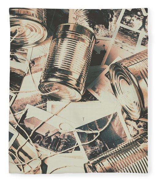 Toy Telecommunications Fleece Blanket