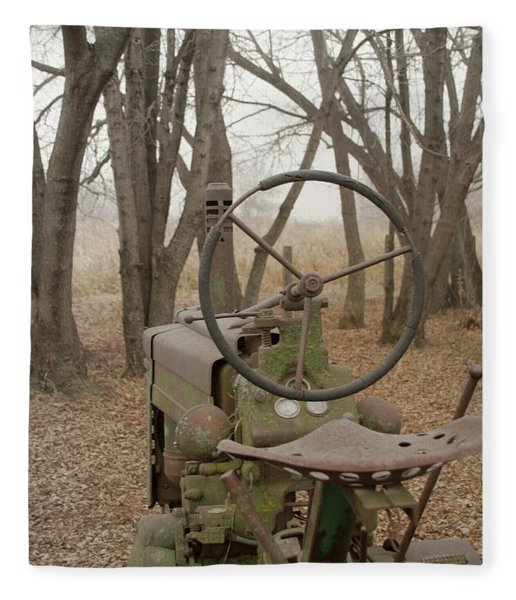 Tractor Morning Fleece Blanket