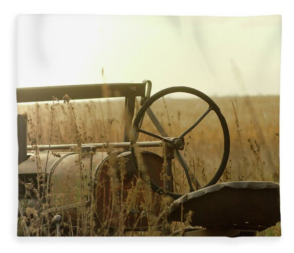 Tractor Sunrise Fleece Blanket