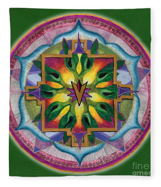 Transformation Mandala Fleece Blanket