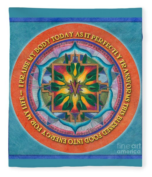 Transformation Mandala Prayer Fleece Blanket