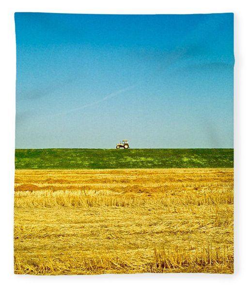 Tricolor With Tractor Fleece Blanket