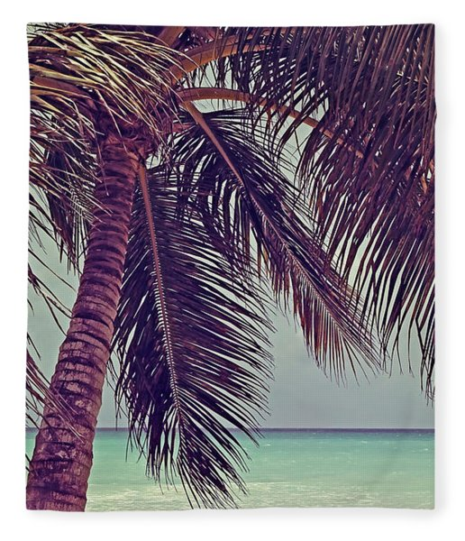 Tropical Ocean View Fleece Blanket