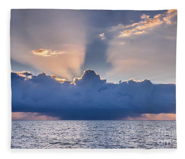 Tropical Storm At Key West Fleece Blanket