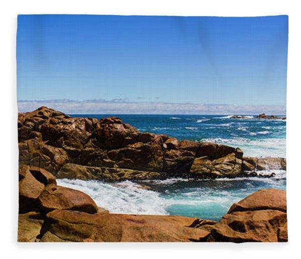 True Blue Aussie Coastline Fleece Blanket