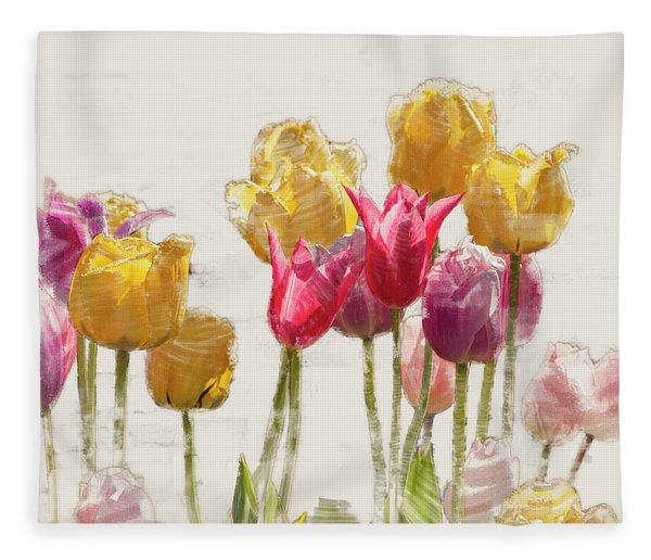 Tulipe Fleece Blanket