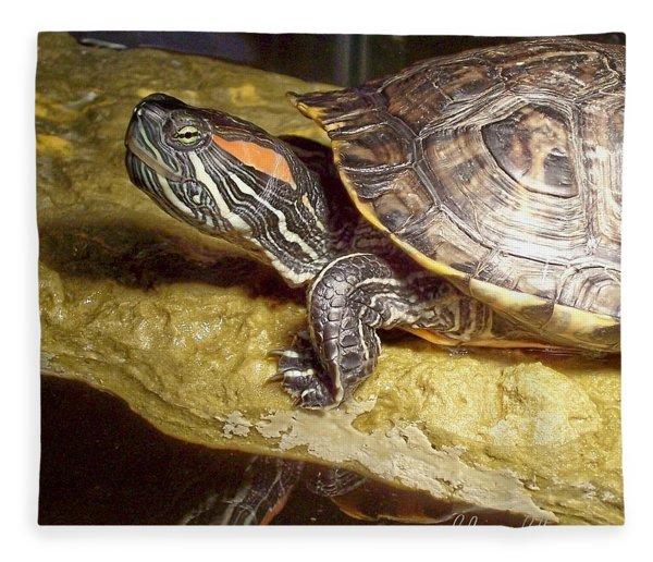 Turtle Reflections Fleece Blanket