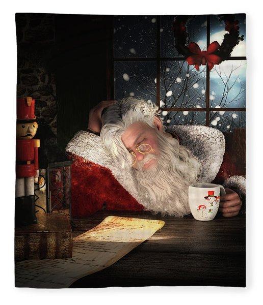 Twas The Night Before Christmas Fleece Blanket