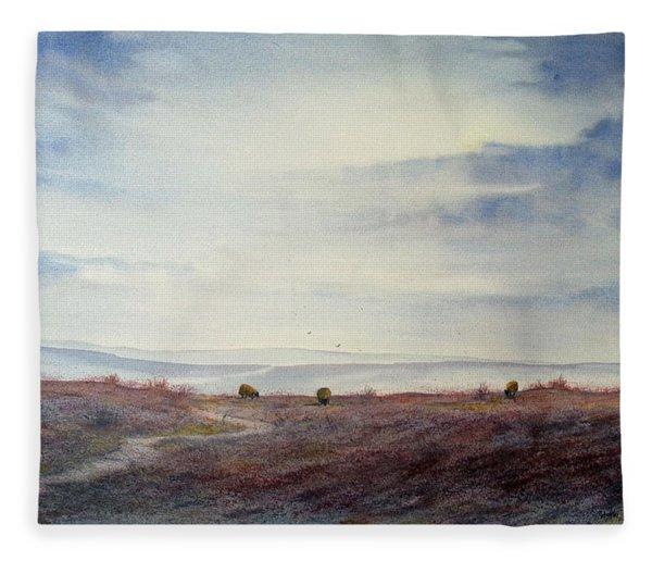 Twilight Settles On The Moors Fleece Blanket