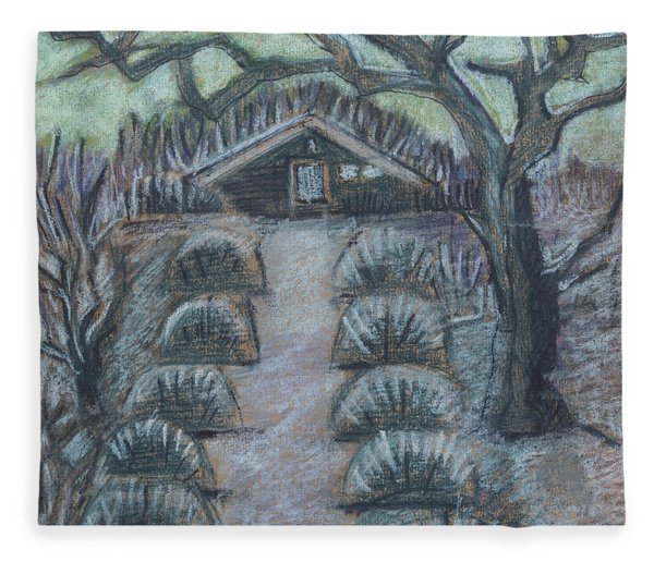 Twilight In Garden, Illustration Fleece Blanket