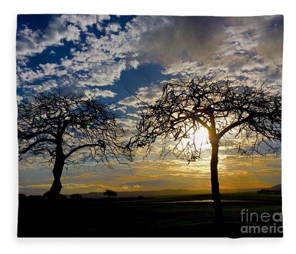Two Trees Fleece Blanket