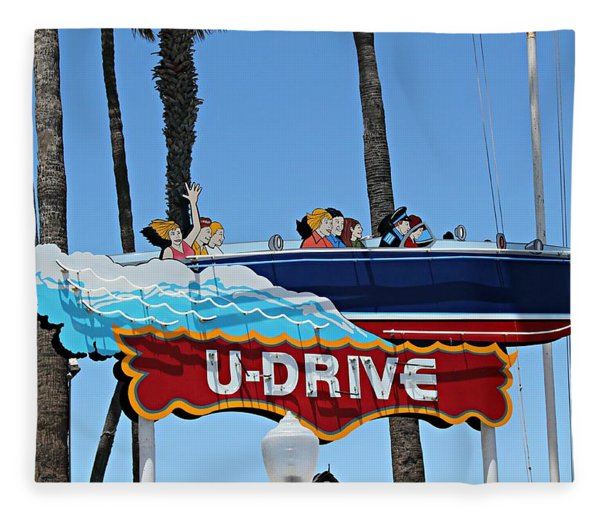 U-drive Boat Sign Fleece Blanket
