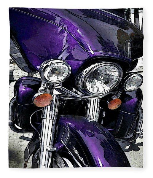 Ultra Purple Fleece Blanket