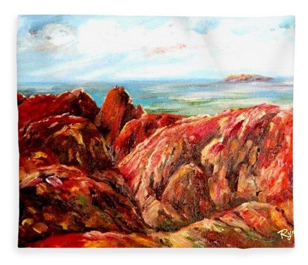 Uluru Viewed From Kata Tjuta Fleece Blanket