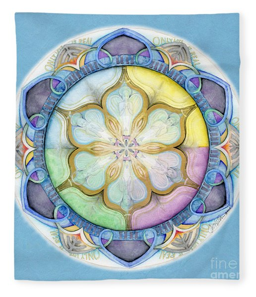 Unconditional Mandala Fleece Blanket