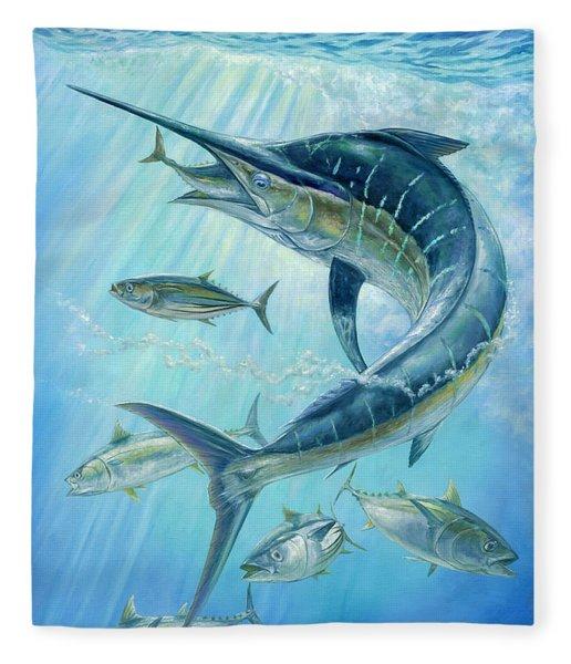 Underwater Hunting Fleece Blanket