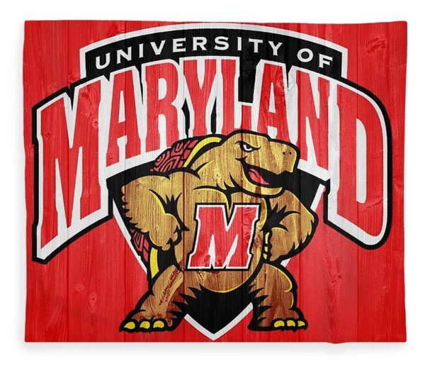 University Of Maryland Barn Door Fleece Blanket