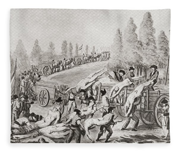 Unloading The Bodies Of Victims During Fleece Blanket