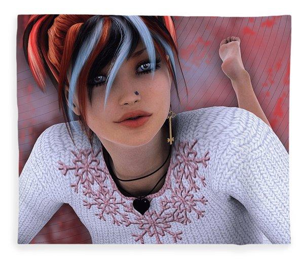 Unlock My Heart Fleece Blanket