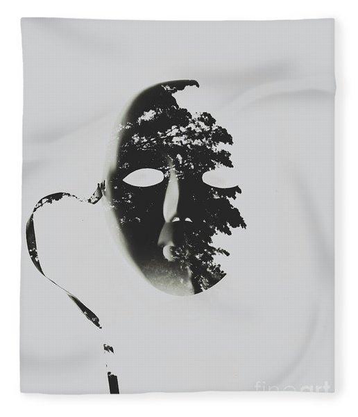 Unmasking In Silence Fleece Blanket