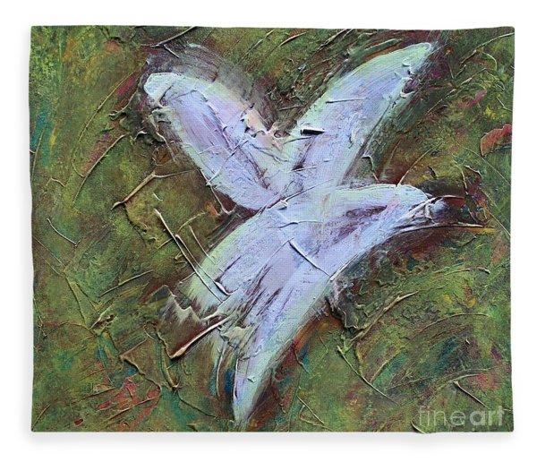 Upon Angels Wings Fleece Blanket