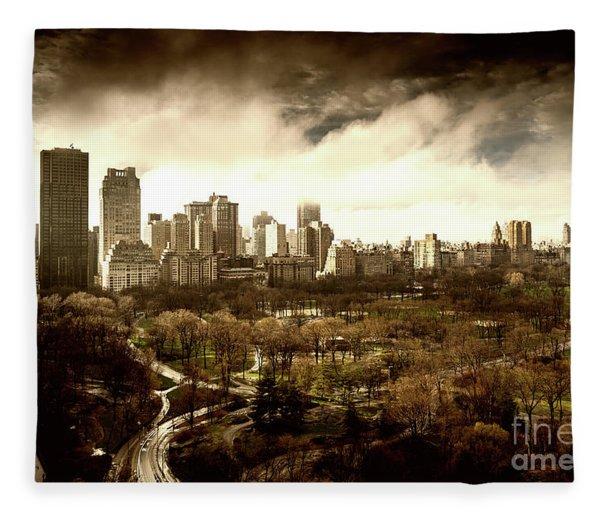 Upper West Side Of New York City Fleece Blanket