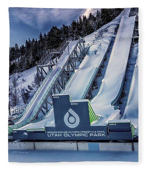 Utah Olympic Park Fleece Blanket