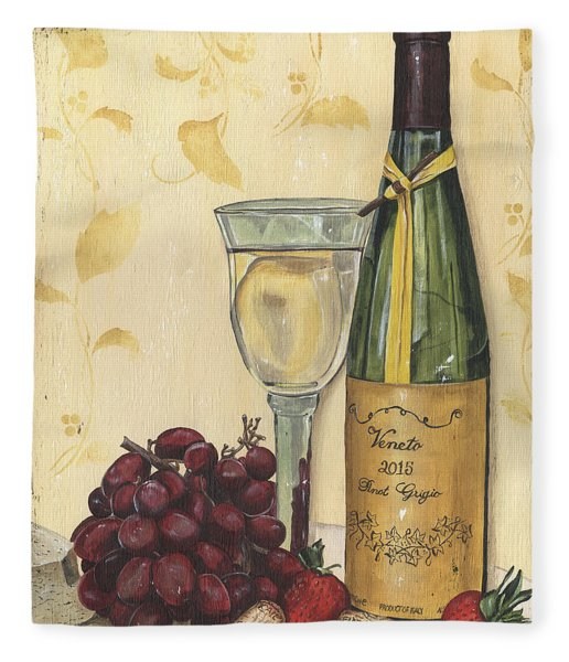 Veneto Pinot Grigio Fleece Blanket
