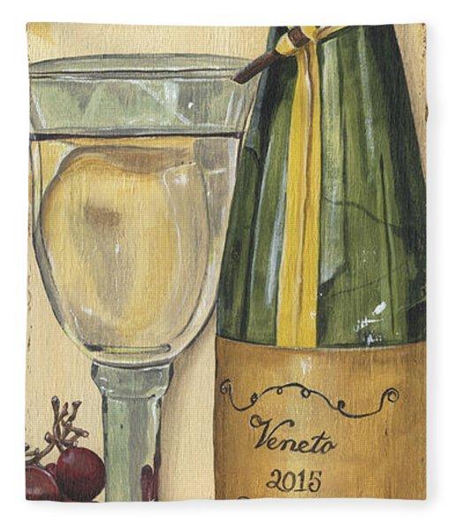 Veneto Pinot Grigio Panel Fleece Blanket