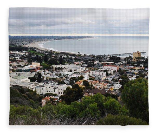 Ventura Coast Skyline Fleece Blanket