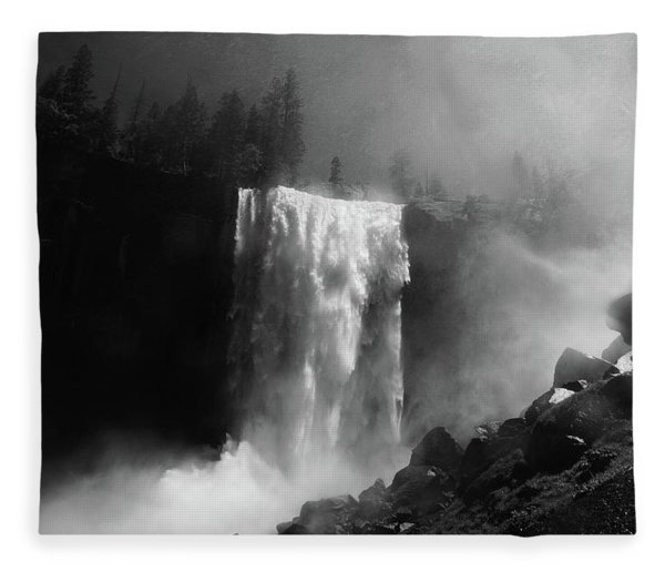 Fleece Blanket featuring the photograph Vernal Fall And Mist Trail by Raymond Salani III