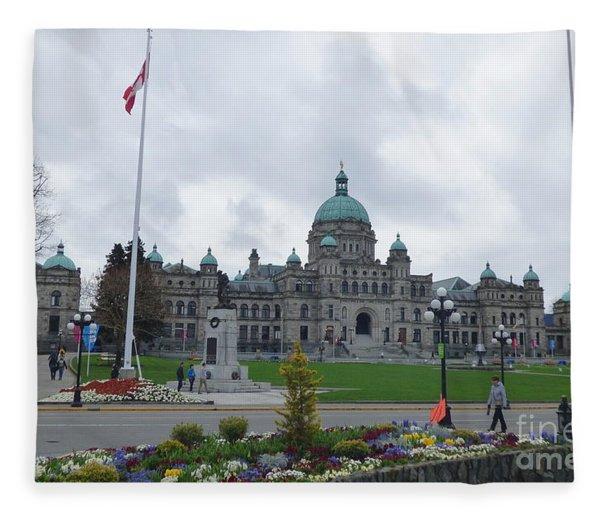 Victoria British Columbia Parliament Building Fleece Blanket