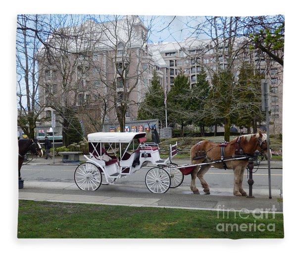 Victoria Horse Carriages Fleece Blanket
